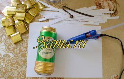 Оригинальный подарок своими руками: Кружка пива из конфет