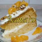 Медовый бисквит со сметанным кремом