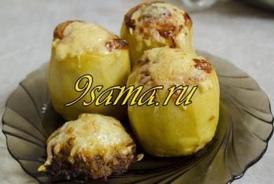 Фаршированный картофель запеченный в духовке