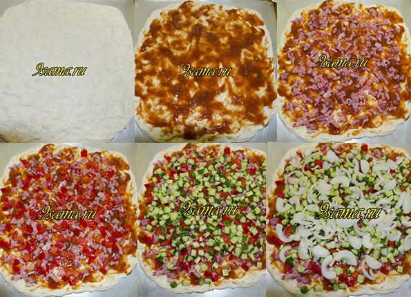 Домашняя пицца без сыра