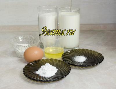 Классический рецепт панкейков на молоке