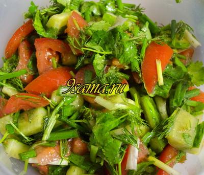 Вкусный рецепт свежего салата