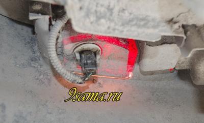 Замена габаритной лампы своими руками