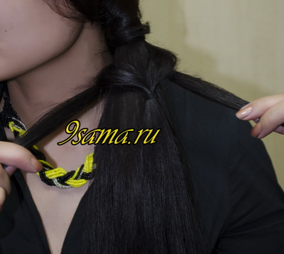 Простое плетение косы с помощью резинок