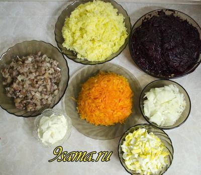 Классический рецепт селедки под шубой слоями