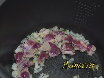 Грибы с мясом в мультиварке