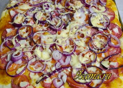 Пицца с крабовыми палочками в домашних условиях рецепт 41