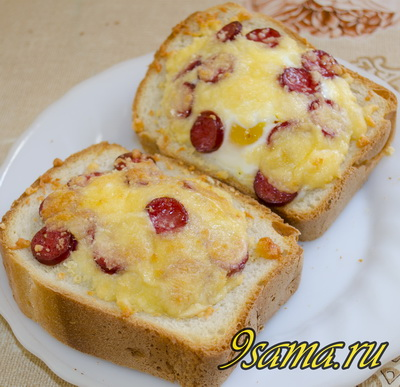 Горячие бутерброды с яйцом и сыром