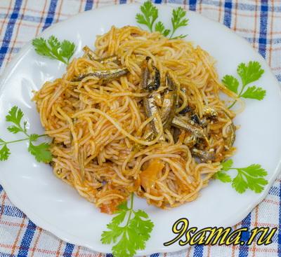 Спагетти с анчоусами