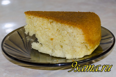 Рецепт манника на ванильном кефире в мультиварке