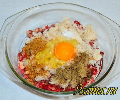 Рецепт котлет с фаршем и рисом
