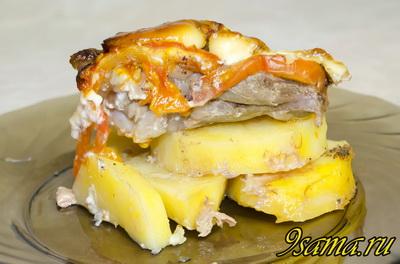 Ребра с картошкой запеченные в духовке