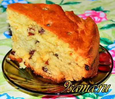 Рецепт кекса на кефире с изюмом
