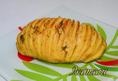 Запеченная в духовке картошка гармошка