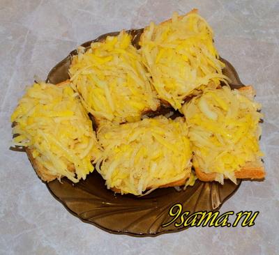 Рецепт горячих бутербродов с картофелем