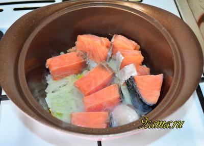 Корейский суп из красной рыбы Тинган
