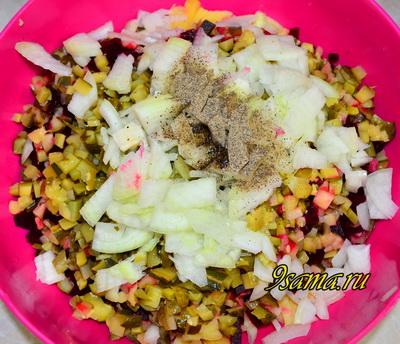 Классический рецепт салата винегрет