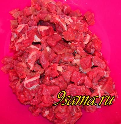 Рулет с тыквой и мясом на пару - Ханум