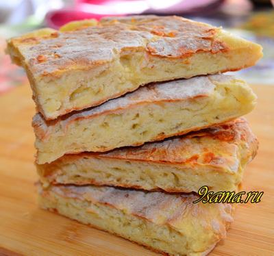 Сырные лепешки на кефире за 15 минут!