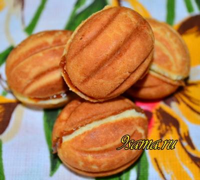 Рецепт медовых орешков со сгущенкой