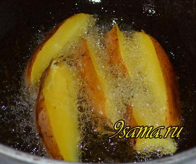 Картошка по-деревенски без духовки