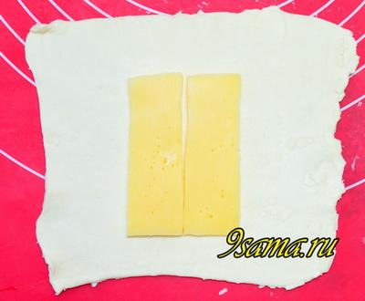 Слойки с сыром из готового теста за 5 минут!