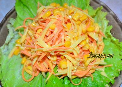 Салат с корейской морковью и сыром за 5 минут!