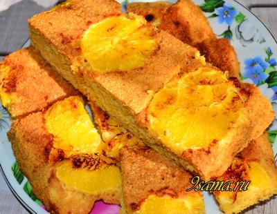 Нежный пирог с апельсином