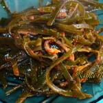 Рецепт салата из морской капусты по-корейски Меги-ча