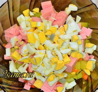 Салат «Для гостей» с крабовыми палочками