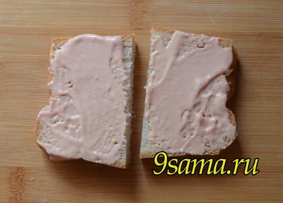 Горячие бутерброды с ветчиной на завтрак