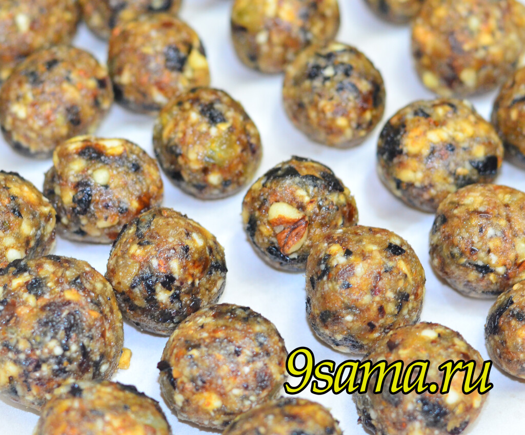Домашние конфеты из сухофруктов