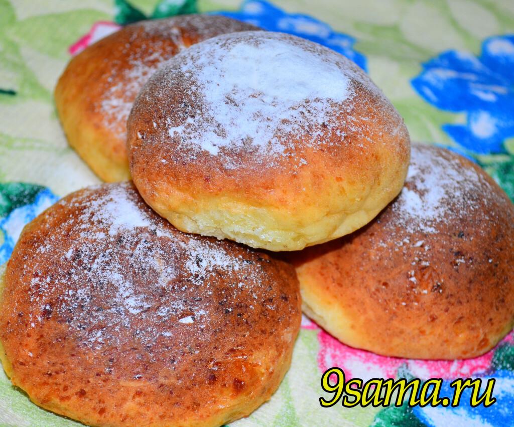 Творожные булочки без дрожжей и масла